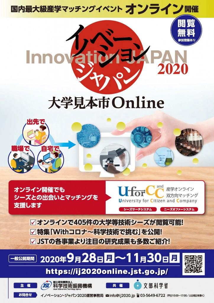 イノベーション・ジャパン2020 ―大学見本市Online― に出展しました