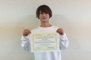 専攻科2年生 熊本さんがセッション最優秀プレゼン賞を受賞しました